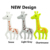 2019 New Arrival Silicone Rubber Teether Chew Toys Wholesale Giraffe Silicone Teething Pendant