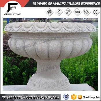 Roman Style Stone Garden Flowerpotsu0026vases Granite Flower Planter   Buy Grey  Granite Garden Planters,Outdoor Granite Flower Planters,Tall Flower ...