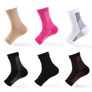 Nylon Compression Sport Ankle Support Sock Plantar Fasciitis Compression Sleeve Ankle Sock