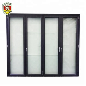 China supplier bespoke front house exterior double lowes glass accordion bifold door hardware