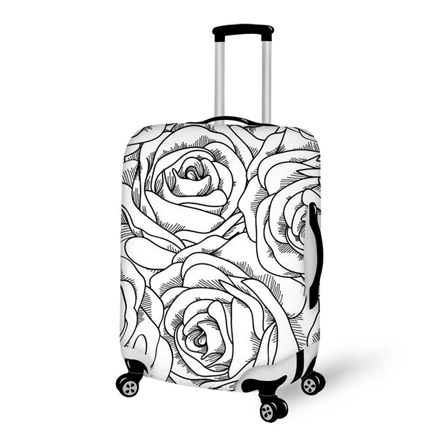 WAOWAO multicolor hardside luggage 24inch
