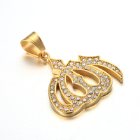 New arrival stainless steel jewelry 18k muslim gold pendant gold allah diamond pendants