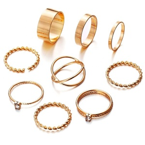 Wholesale New Arrived High Quality Fashion Jewelry Solid Color Woman Finger Ring Set