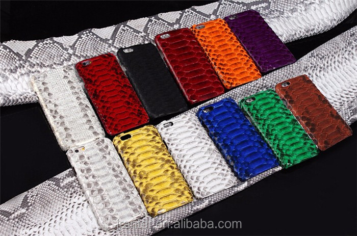 Hot Selling Customized Luxury Genuine Python Snakeskin Back cover for iphone 6