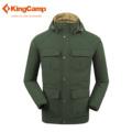 KingCamp Winter Waterproof Windproof 3 in 1 Ski Jacket Men Women Hooded Thick Warm Down Jacket