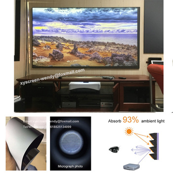 XYSCREENS PET Crystal UST ALR Projector screen projection 100 ,120 inch for xiaomi 4k laser projector