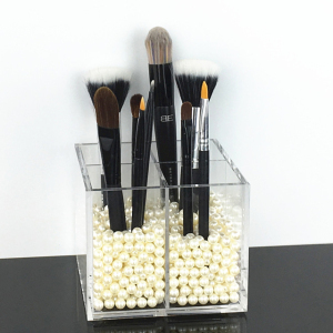 Storage Jar Organizer with Built acrylic cosmetic box makeup storage