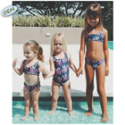 Wholesale Custom made children swimwear unique print kids bikinis