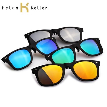 ef83be7df5 Helen Keller Fashion Polarized Sunglasses Clip On glasses For Colorful  Choice