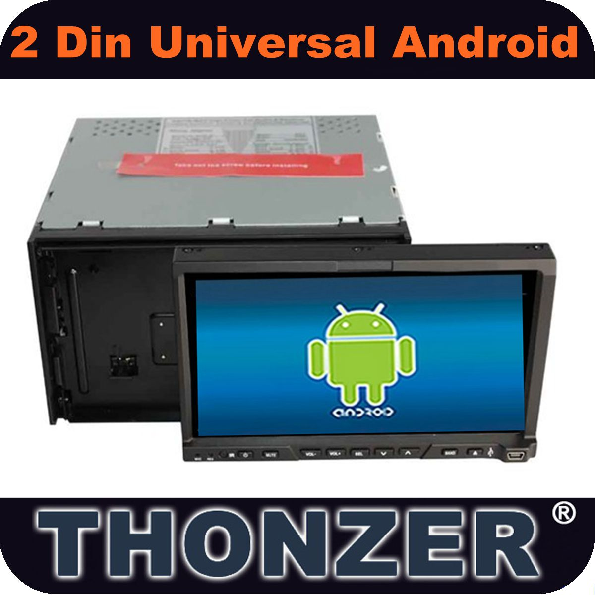 "7"" Android 4.0 Double Din Universal CAR DVD WITH WI-FI /3G"