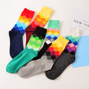 Wholesale Low Price Men British Style Colorful Socks
