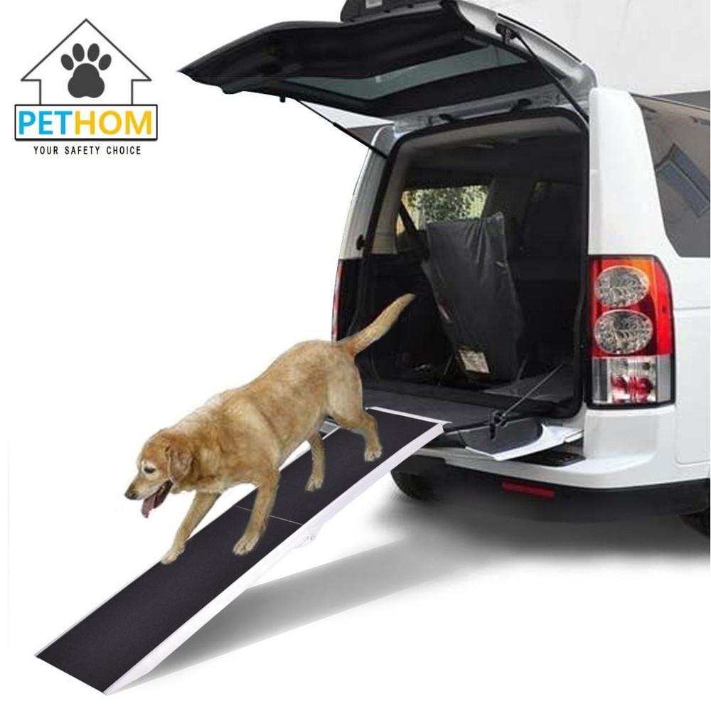 Rampa perros plegable antideslizante ayuda acceso autom/óvil coche mascotas animales de compa/ñia