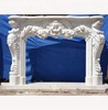 Hand carved indoor elegant marble rustic fireplace with europe style