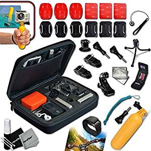 Xtech® Camera ACCESSORIES KIT for GoPro HERO4 Hero 4, Hero3+ Hero 3+, HERO3 Hero 3, HERO2 Hero 2, HD Motorsports HERO, Surf Hero, GoPro Hero Naked, GoPro Hero 960, GoPro Hero HD 1080p, GoPro Hero2 Outdoor Edition Digital Cameras Includes: Medium size Custom Camera CASE + Hermetically Sealed