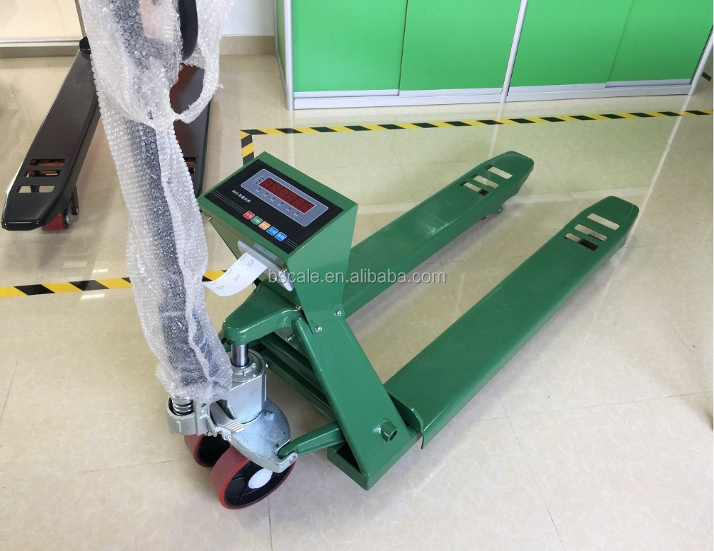 2ton hand pallet jack weighing scale with printer