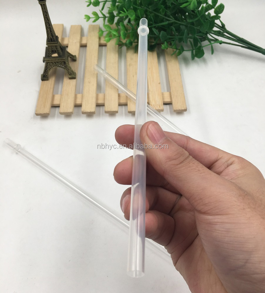 "Clear Solid Colors Plastic Acrylic straw with ring, 9"" bpa free Reusable plastic straw, Reusable Replacement plastic Straws"