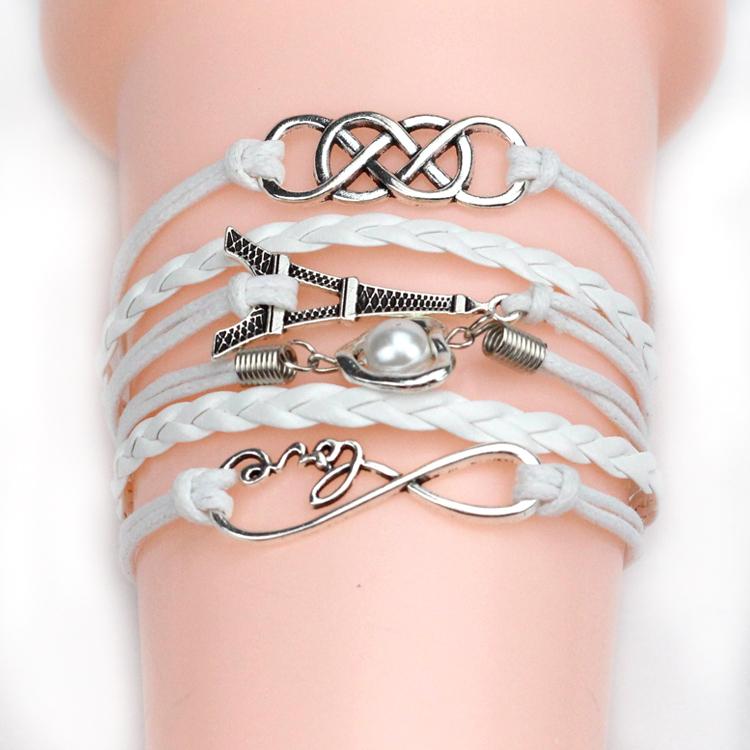 18 стиль якорь любовь браслеты и браслеты сова ласточка-образный руль мужчины ювелирные изделия из кожи браслеты женщин винтаж очарование 2015 мода
