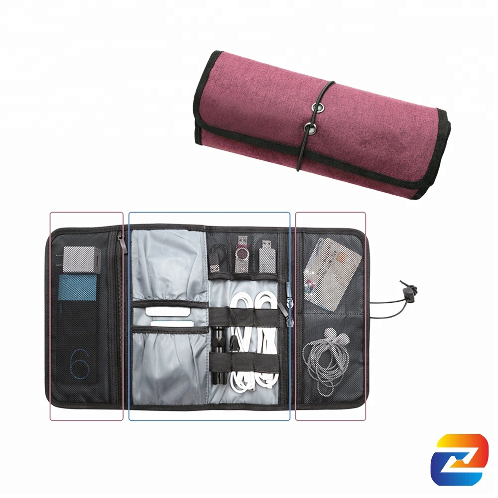 5b97bd5e56b7 Roll Up Travel Gear Organizer Electronics Accessories Bag Portable Storage  Pouch Healthcare Cosmetics Kit Case - Buy Roll Up Travel Organizer,Charger  ...