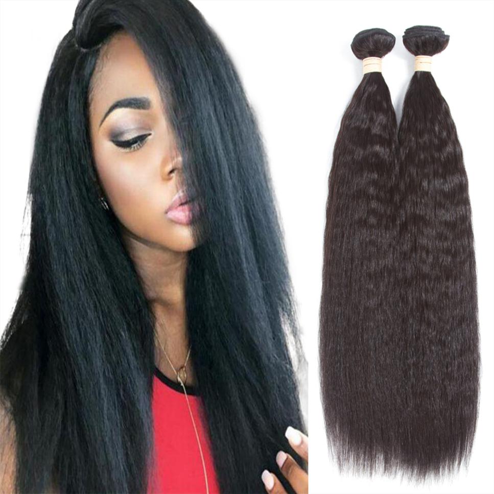 Alibaba.com / Allrun factory wholesale raw good price kinky straight human hair extension