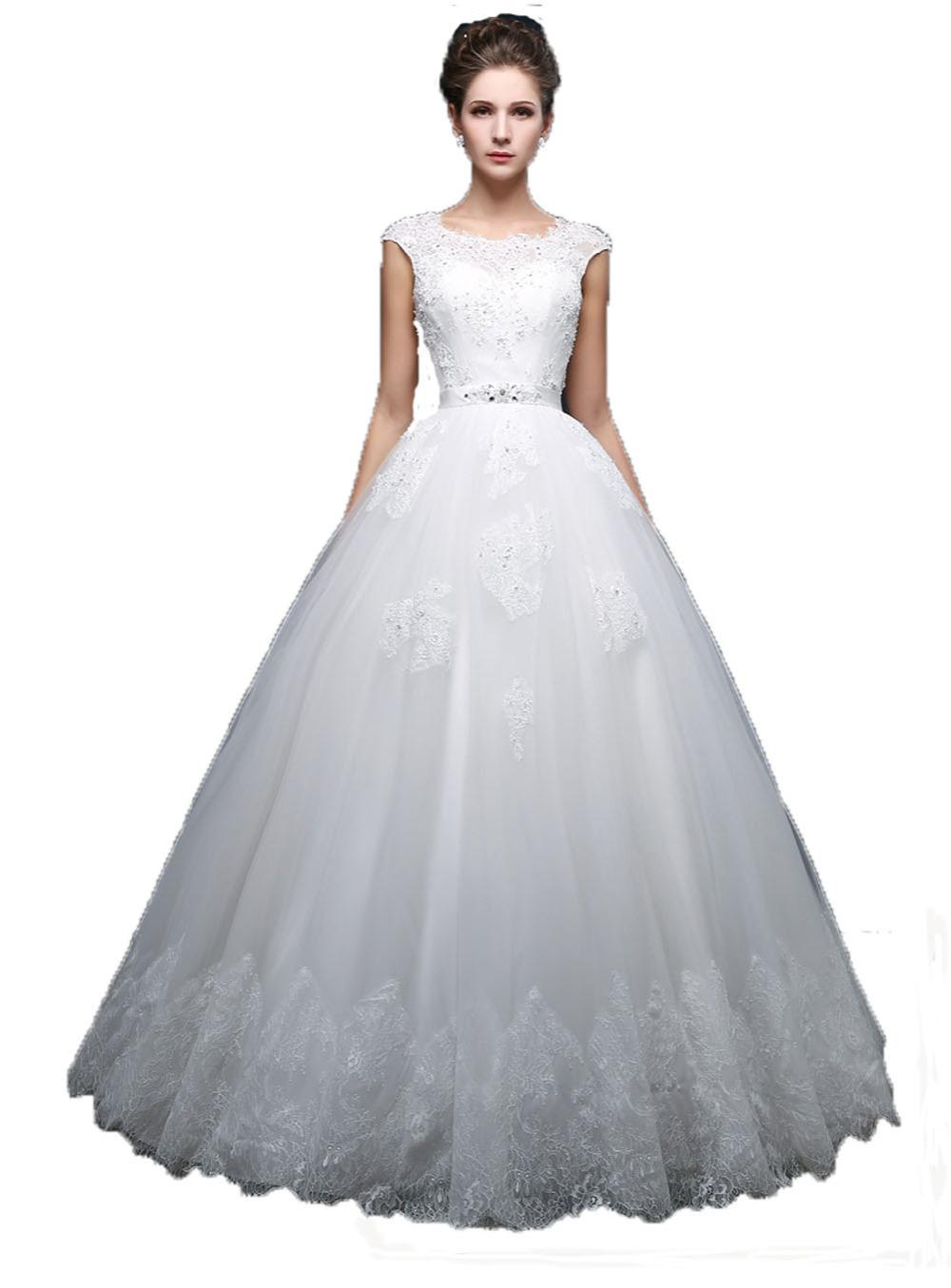 Hot Sale Ball Gown Wedding Dress Plus Size Vestidos De Noiva Summer Style  Robe De Mariage Wedding Dresses 2015 673f14bd5607