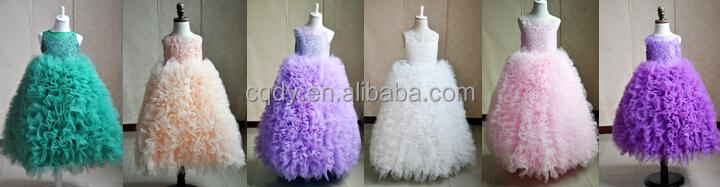29e9432a028 little queen flower girl dress full-length tulle flower dress princess  fluffy puffy dress floor