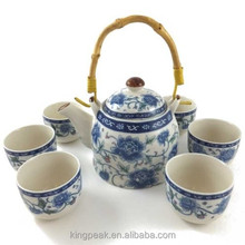 2015 Best Selling Chinese Tea Set/Chinese blue and white porcelain tea set.good for Christmas gifts
