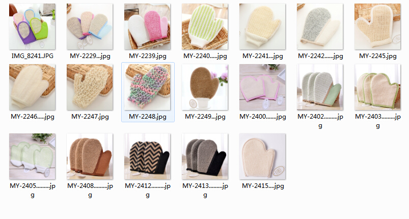 Wholesale Natural Coloful Sisal Sponge Exfoliating Bath Glove Bath Glove