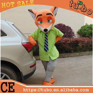 hot sale plush Zootopia nick fox walking mascot costume for party costume