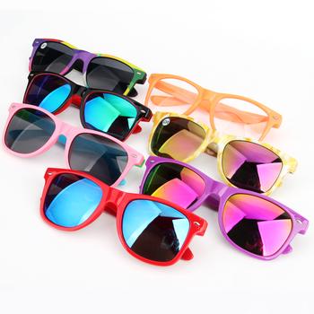 c9da46071a5 Neon Plastic Custom cheap Promotional Sunglasses