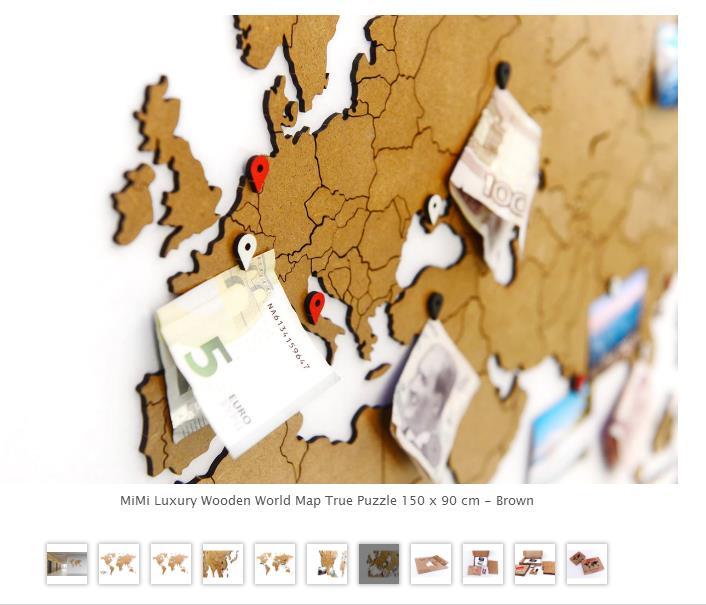 Brand Mimi Diy Wooden 3d Puzzle World Map Globe Puzzle   Best Wood ...