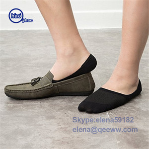3 pairs Bamboo Invisible Ankle Socks Men Summer Casual Loafer Moccasins No Show Socks Male Black