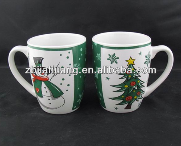 Winter Series Ceramic Snowman Coffee Cup