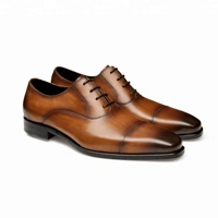 2019 new italian formal genuine leather oxfords mens dress shoes
