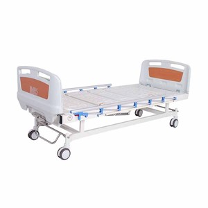 A-56 Elderly Care Metal Adjustable 2 Functions Manual Hospital Medical Bed For Patient