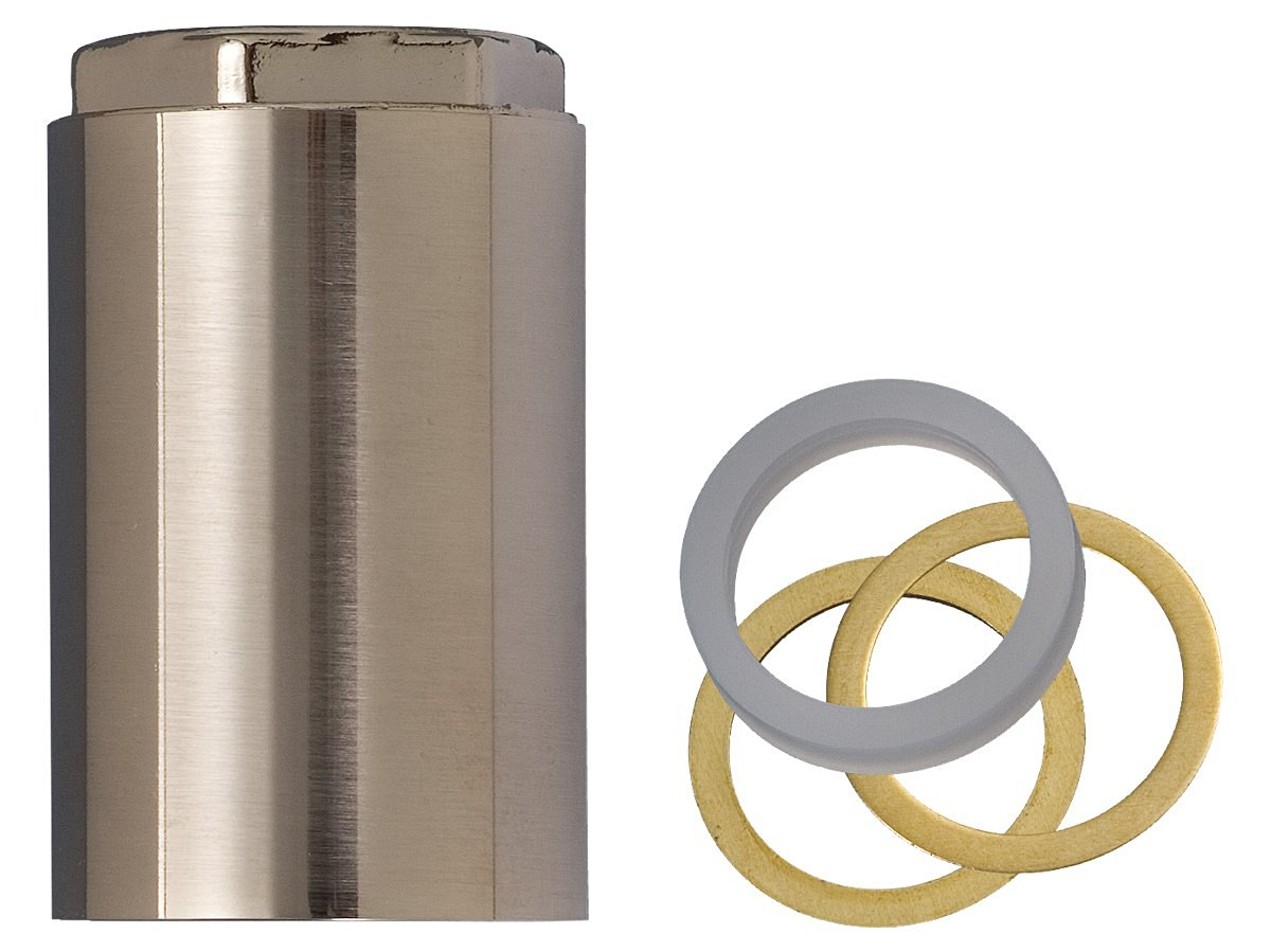 BrassCraft SWD0453 Mixet MSRN-SN Single Handle Tub and Shower Stem Retainer Nut, PVD Satin Nickel Finish
