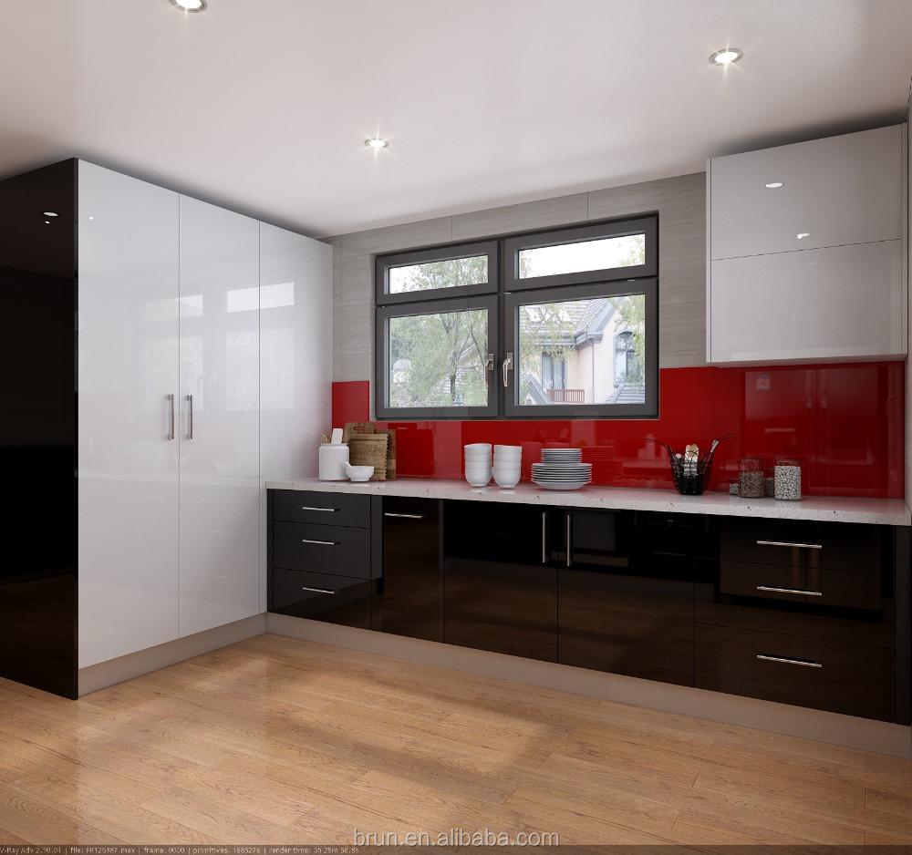 Newest Black Acrylic Modern Kitchen Design Furniture Cabinets Suite Buy Modern Kitchen Design