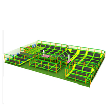 Xiujiang New Products Cheap High Quality Customized Safety Large Square Children Bungee Outdoor Indoor Trampoline Park