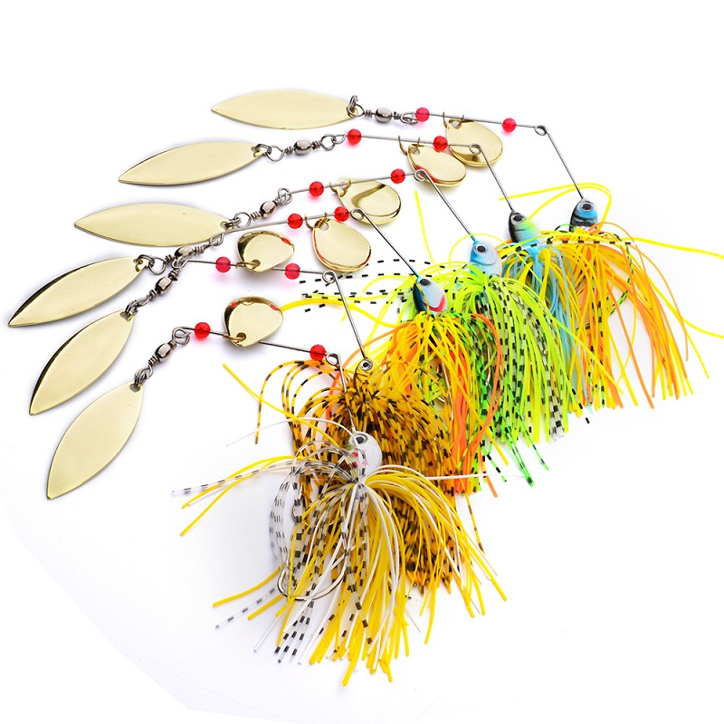 willow&colorado blade spoon handmade fishing spinnerbaits lure