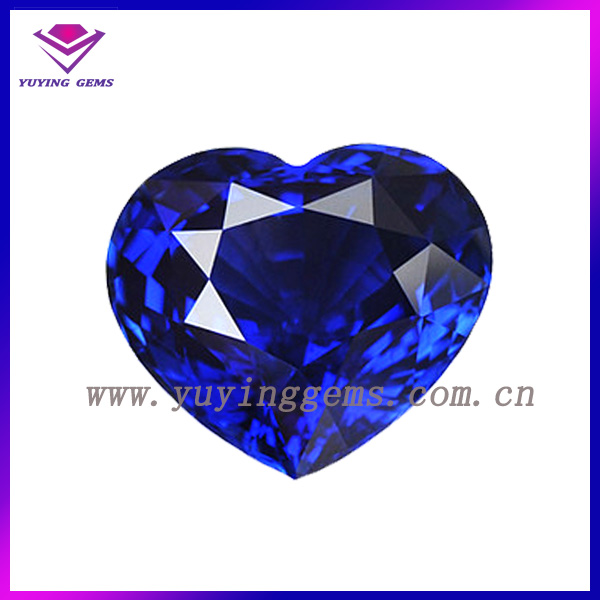 Hot sale Heart Shape Cut Dark Blue Corundum Sapphire