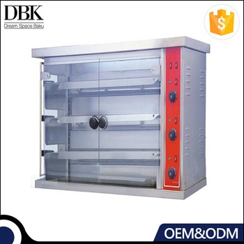 Commercial stainless steel vertical rotisserie oven 15/30 chicken gas rotisserie oven
