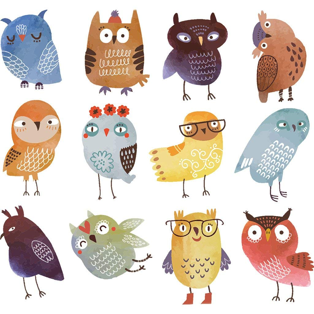 Autone Lovely Owl Patches Heat Transfer Stickers DIY T-Shirt Clothing Iron On Clothes