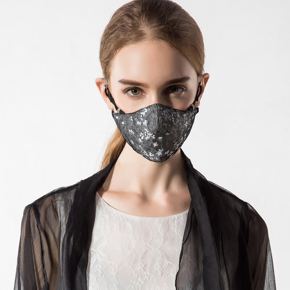 1a610b25770 Get Quotations · MeHow Masks Cotton Mouth Mask Fabric Cloth Windproof PM2.5  Anti-dust Haze Six