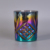 Popular Holographic Effects Embossed Pattern Glass Candle Holder