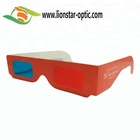 Custom Logo 3D Red&Cyan Glasses Colorful Red & Blue 3D Glasses Cardboard Anaglyph Glasses