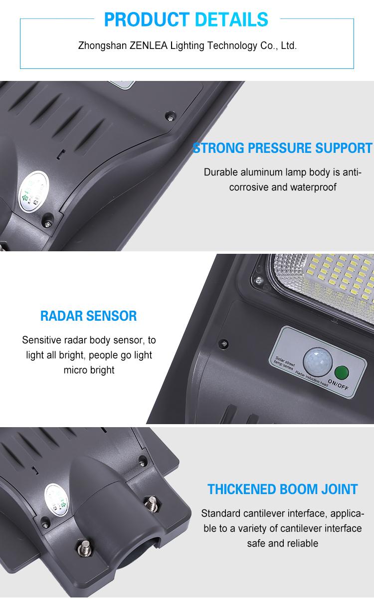 Fabriek Goedkope Prijs Ip65 Outdoor Waterdichte 30W 60W 90W 120W Geïntegreerd Alles In Een Led Solar straat Licht