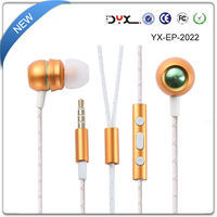 Fashion sport earphone with 3.5mm Connector Microphone wired earphone for cell phone