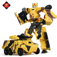 Educational cool armored car robot toy for kids, deformation robot model toys