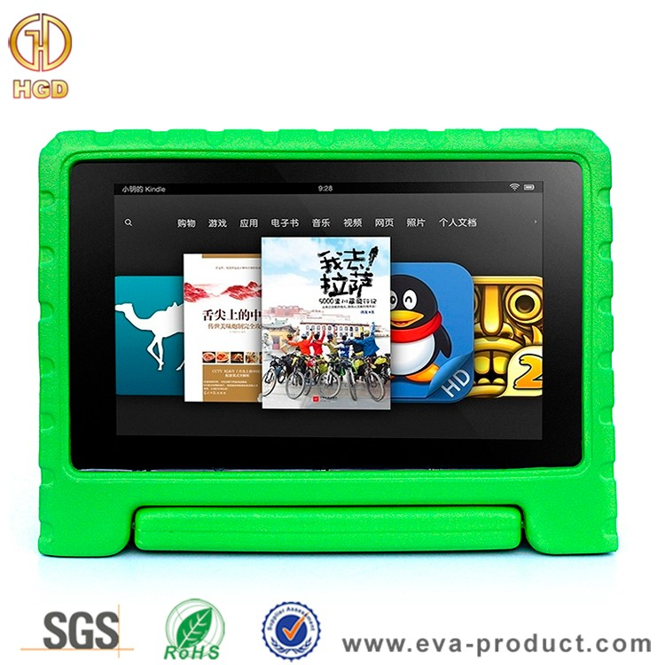 EVA foam material with handle stand shockproof case cover for kindle fire hd 10 2015