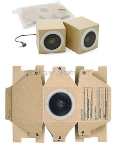 Promotional 1W mini foldable cardboard paper speaker