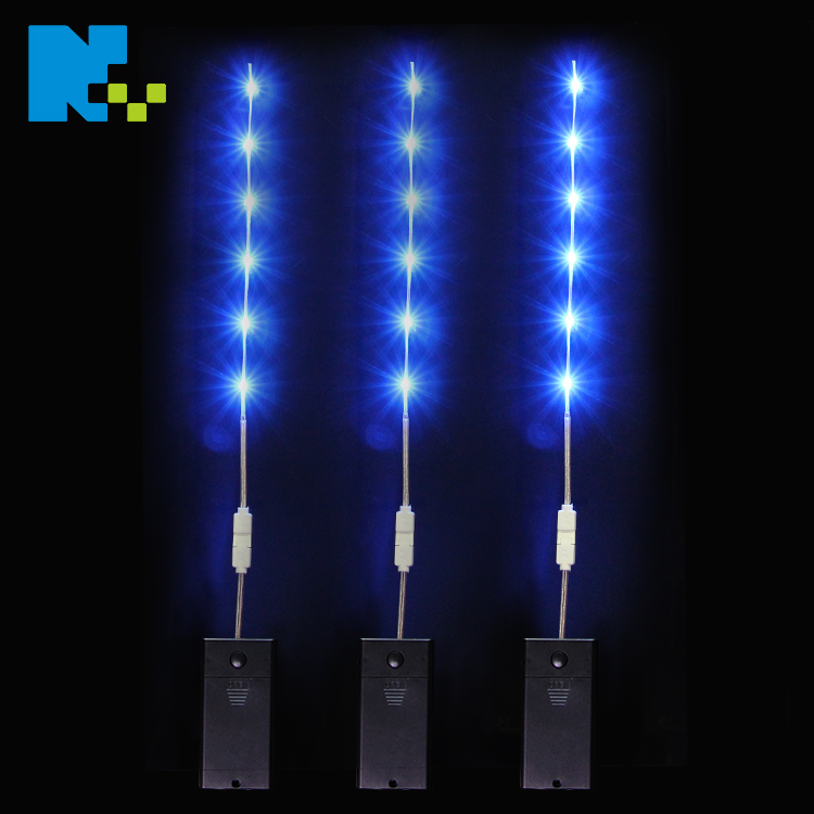 3 volt ultra thin micro outdoor waterproof programmable flexible battery powered flashing LED strip light for clothes